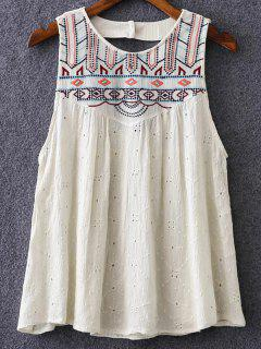 Swing Embroidered Tank Top - Off-white M