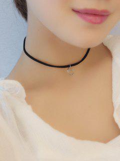 Alloy Circle Choker Necklace - Silver