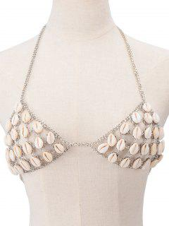 Shells Bra Body Chain - Silver