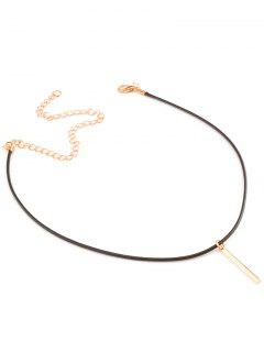 Metal Bar Choker Necklace - Golden
