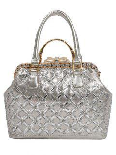 Diamantes De Imitación De Metal Bolsa De Asas Del Arco -