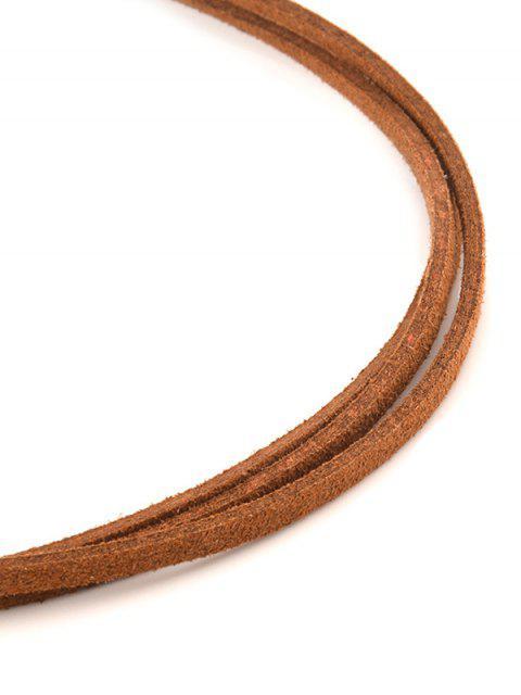 buy Strand Layered Velvet Choker Necklace - BROWN  Mobile