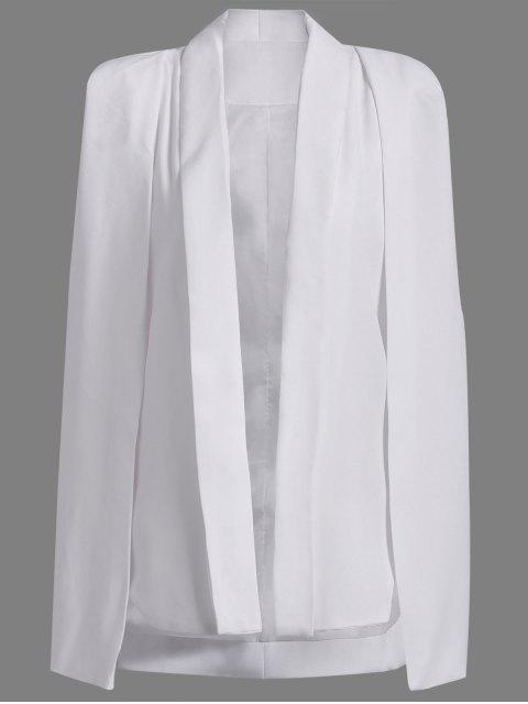 online Shawl Neck Solid Color Cape Blazer - WHITE L Mobile