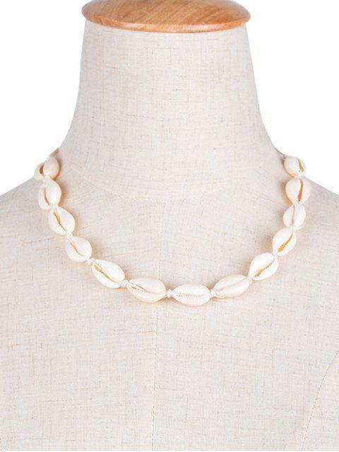 Collar Gargantilla Shell - Blanco  Mobile