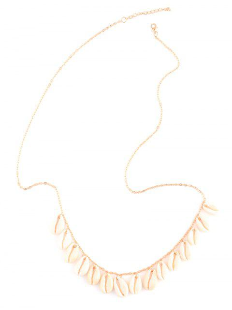 buy Shell Tassel Belly Chain - GOLDEN  Mobile