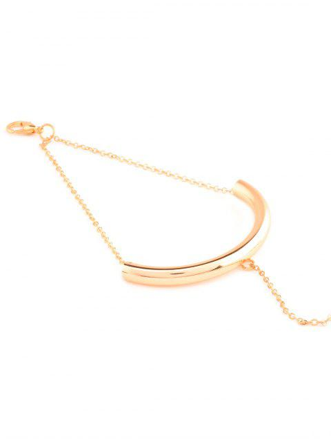 women U Shape Elbow Bracelet - GOLDEN  Mobile
