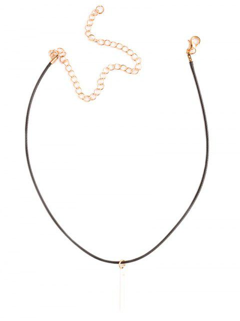 chic Metal Bar Choker Necklace -   Mobile