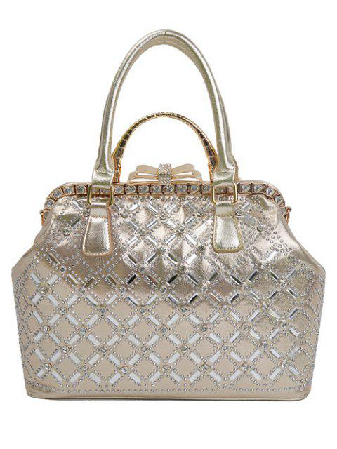 Strass métal Bow sac fourre-tout - Or  Mobile