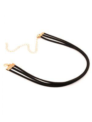 Strand Layered Velvet Choker Necklace