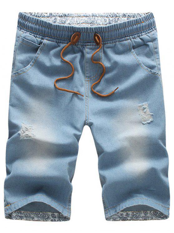 Sconto Uomini Di Denim Bianchi | 2020 Pantaloncini In Denim