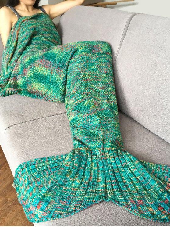 Tricoté Super Soft Mermaid Tail Blanket - Vert