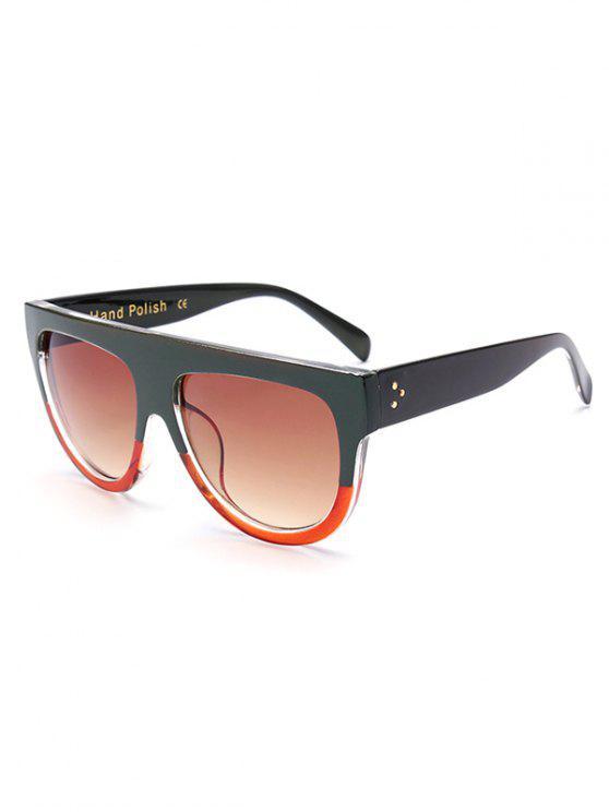 Einfache Zwei-Farb-Match-Sonnenbrillen - Dunkelgrün