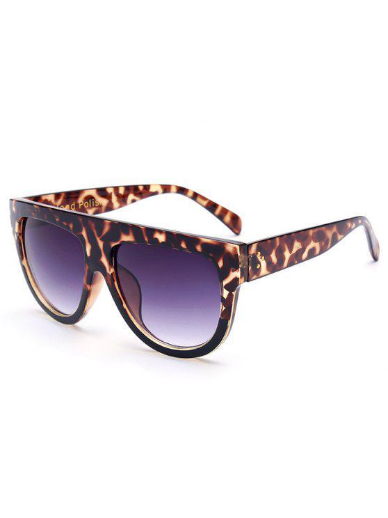 fancy Leopard Pattern Sunglasses - BROWN
