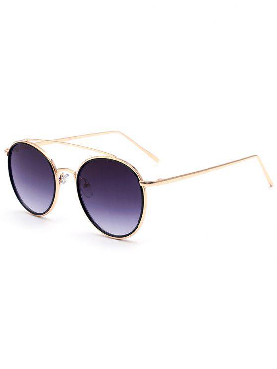 Gafas de sol de oro del marco travesaño - Dorado
