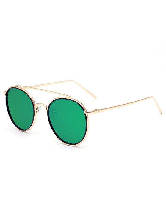 buy Crossbar Golden Mirrored Sunglasses - GREEN