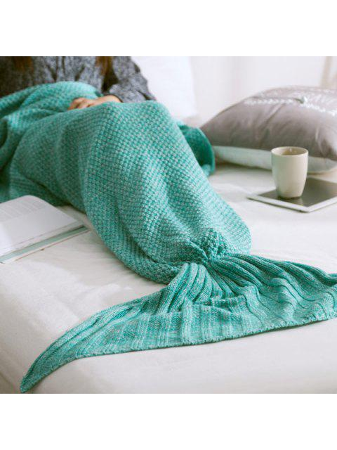 trendy Warm Knitted Mermaid Tail Blanket -   Mobile