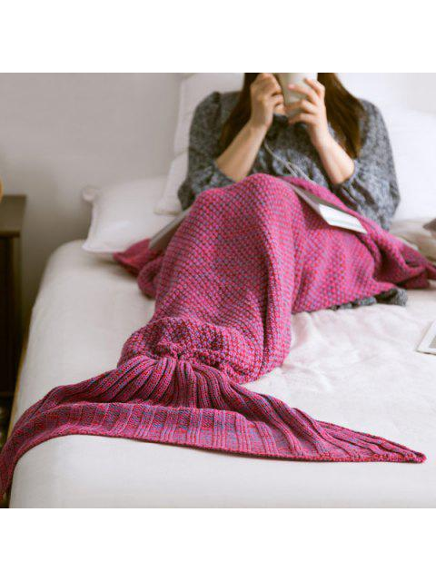 sale Warm Knitted Mermaid Tail Blanket - VIOLET M Mobile