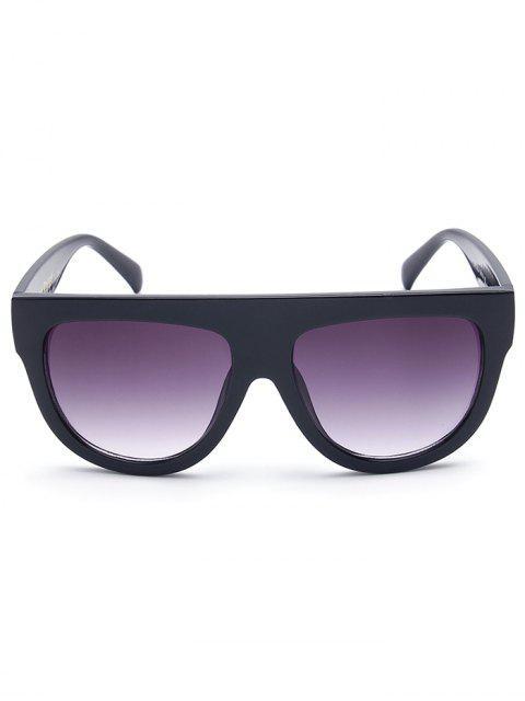 shop Simple Full-Rim Black Sunglasses - BLACK  Mobile
