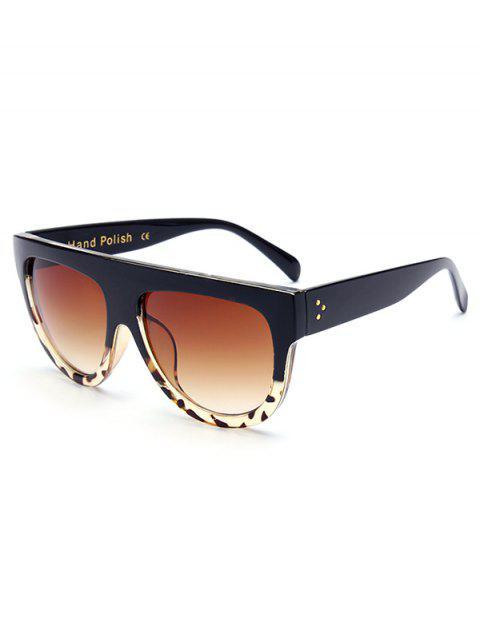 Schwarze Sonnenbrille mit Leopardmuster - Schwarz  Mobile