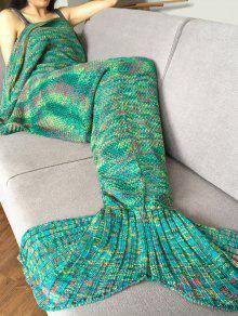 بطانية ميرميد النوم مريح محبوك أنيق للكبار  - أخضر