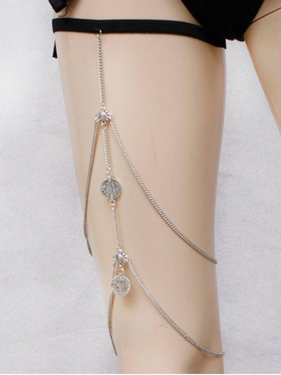 unique Alloy Coins Body Chain - SILVER