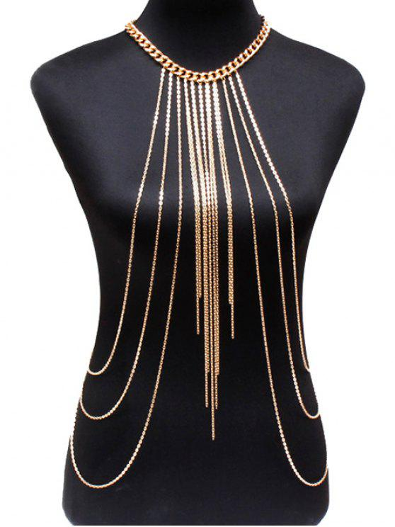 outfits Alloy Body Chain - GOLDEN