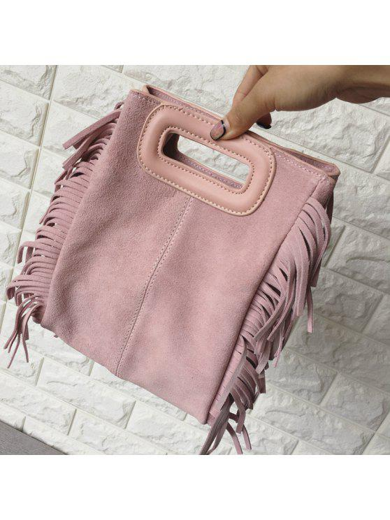 حقيبة كلاتش لون اسود للنساء - زهري