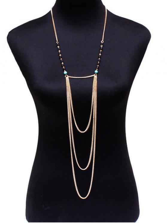 Cadena de perlas Cuerpo - Dorado