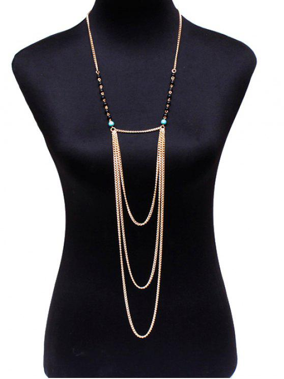 fashion Beads Body Chain - GOLDEN