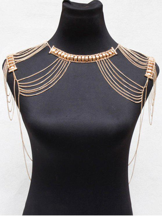 sale Alloy Hollowed Body Chain - GOLDEN