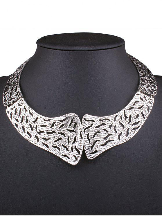 lady Retro Style Hollowed Torques - SILVER