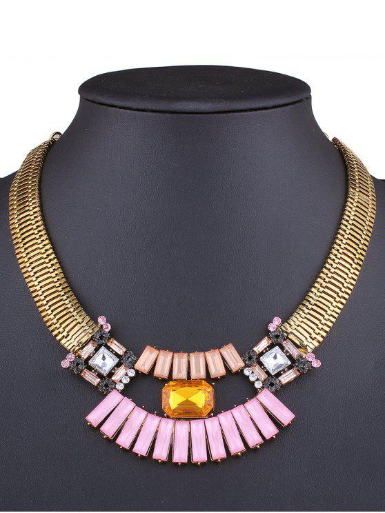 best Fake Gem Statement Necklace - GOLDEN