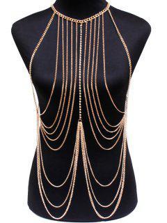 Rhinestone Body Chain - Golden