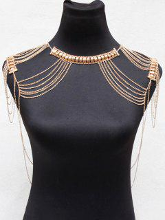 Alloy Hollowed Body Chain - Golden