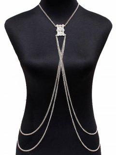 Layered Alloy Body Chain - Silver