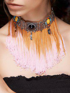 Color Block Rope Fringed Choker