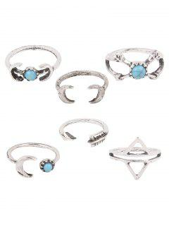 Crescent Arrow Opening Rings - Silver