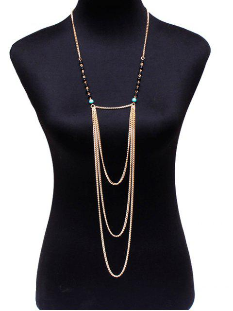 fashion Beads Body Chain - GOLDEN  Mobile