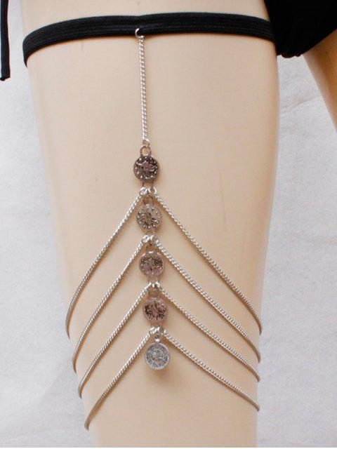 fancy Coins Body Chain - SILVER  Mobile