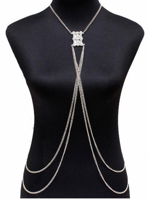 affordable Layered Alloy Body Chain - SILVER  Mobile
