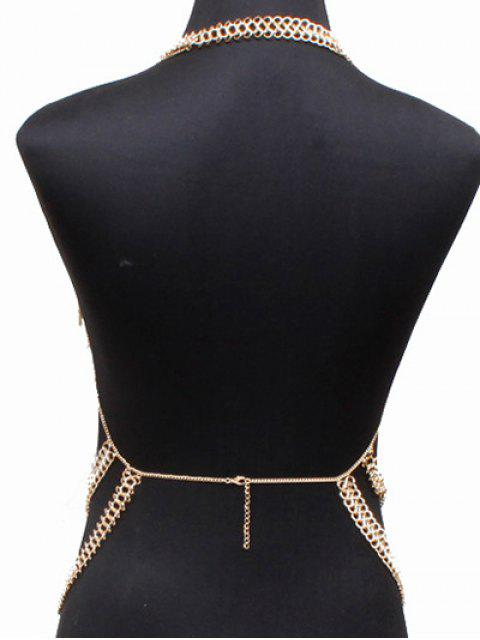 buy Alloy Hollow Out Body Chain - GOLDEN  Mobile
