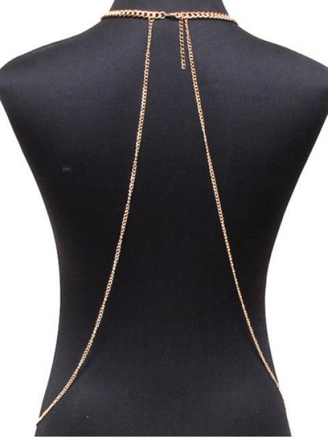 womens Alloy Geometric Body Chain - GOLDEN  Mobile