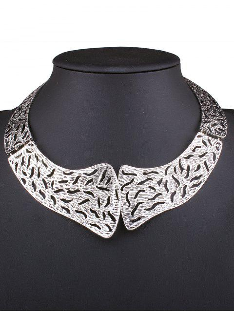 lady Retro Style Hollowed Torques - SILVER  Mobile