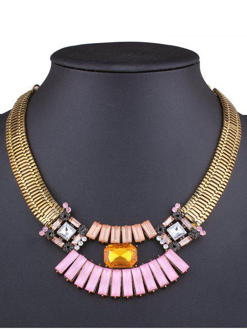 best Fake Gem Statement Necklace - GOLDEN  Mobile