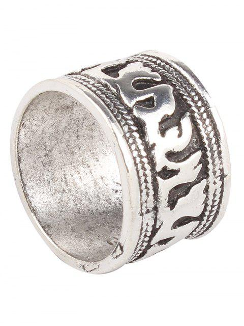 chic Engraved Elephant Etched Rings - SILVER  Mobile