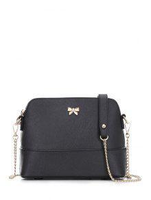بونوت حقيبة جلدية الكتف - أسود