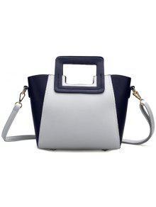 حقيبة توتس نسائية عصرية تصميم كتلة اللون - رمادي