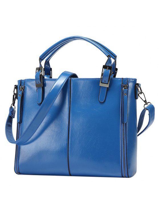 المألوف السحابات و أبازيم تصميم حمل حقيبة للنساء - أزرق