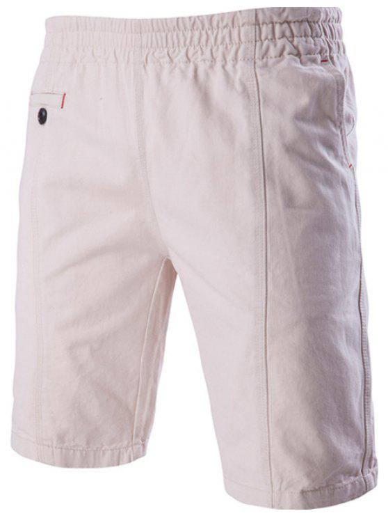 704d680fd8f6 Fahsionable Pockets Design Stretch Waistband Casual Shorts For Men - Off- white Xl