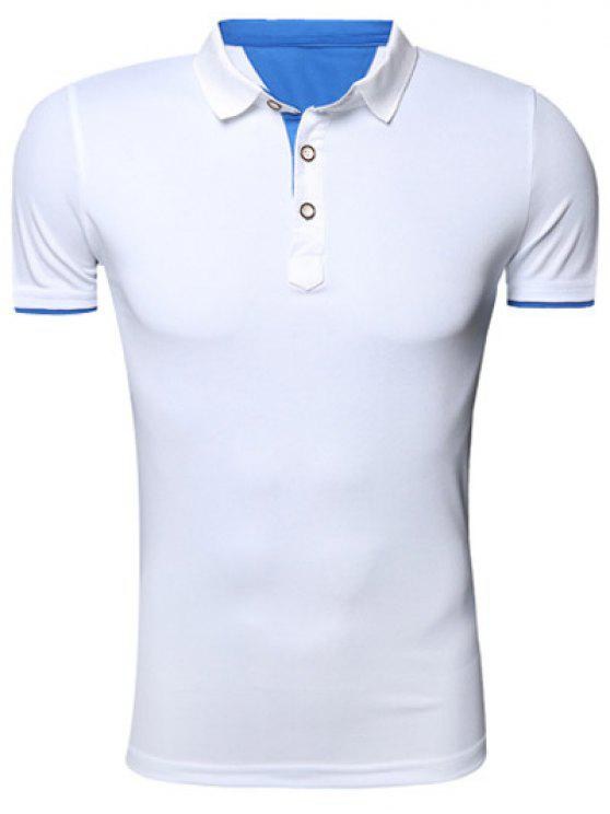 61c3ee6ca372 2018 Classic Turn-Down Collar Short Sleeve Polo T-Shirt For Men In ...